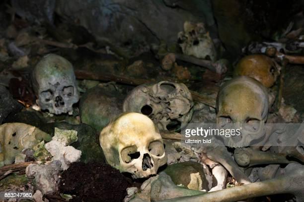 Old Skulls hidden in Rock Islands near Malwawa Triton Bay West Papua Indonesia