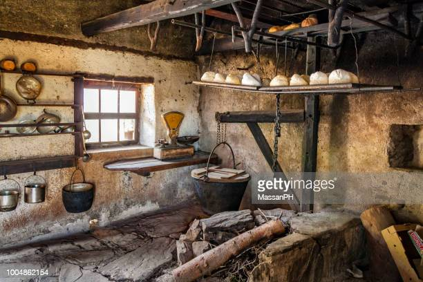 old smoky cheese laboratory - friuli venezia giulia stock photos and pictures