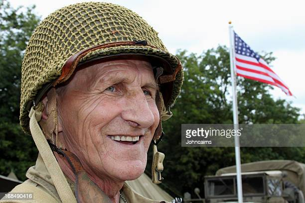 old soldier. - utah beach stock photos and pictures