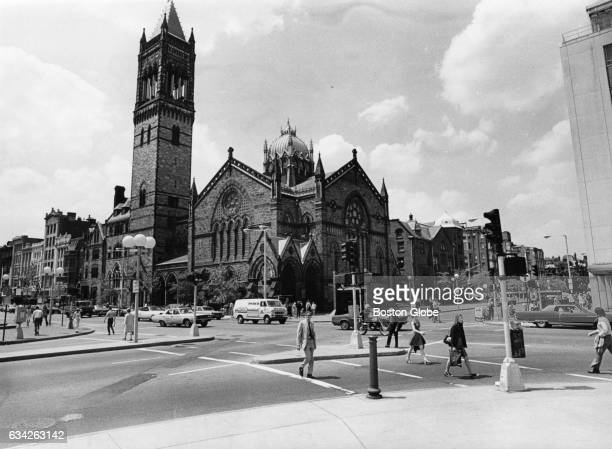 Old South Church as seen from Copley Square in Boston on May 30 1973