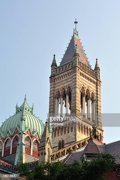 old south church in boston - copley square stock-fotos und bilder