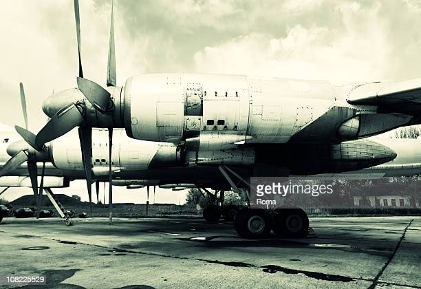 old soviet aircraft - cold war stock pictures, royalty-free photos & images