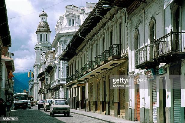 Old Spanish colonial buildings, Cuenca, Ecuador