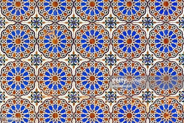espagnol vieux mur de carreaux - seville photos et images de collection