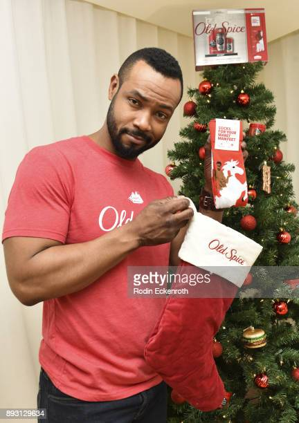 Old Spice Guy Isaiah Mustafa hosts Holiday Gift Showcase at Mondrian Hotel on December 14 2017 in Los Angeles California