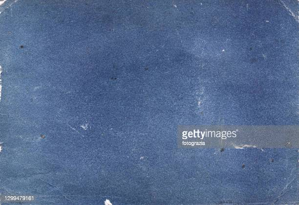 old stained blue book cover - the past stock pictures, royalty-free photos & images