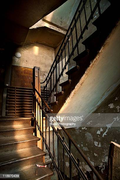 Old stairway in an abandoned house