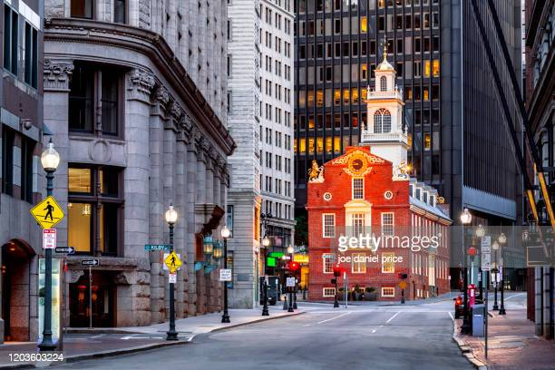 old state house, boston, massachusetts, america - massachusetts stock pictures, royalty-free photos & images