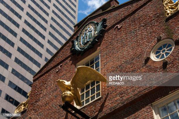 Old State House in Boston dowtown. Massachusetts. New England. USA..