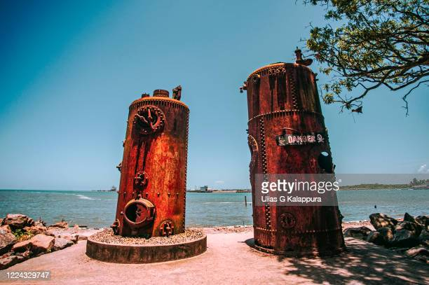 old steam boilers in fort cochin, kerala india - 1956 stock-fotos und bilder