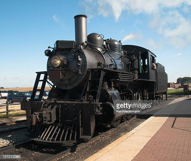 old steam locomotive - cowcatcher stock pictures, royalty-free photos & images