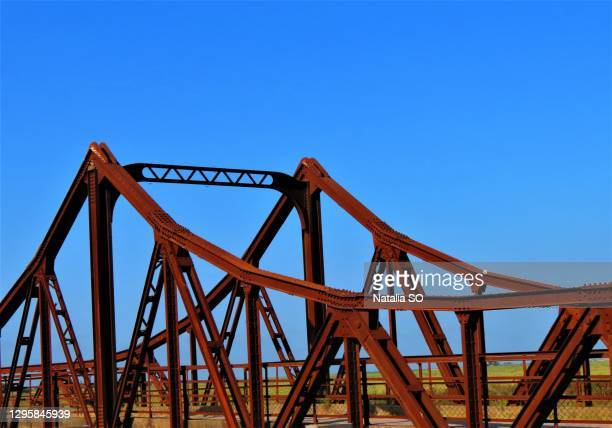 an iconic old metal truss railroad
