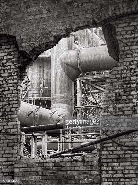Old Steel Mill Industrial Pipes