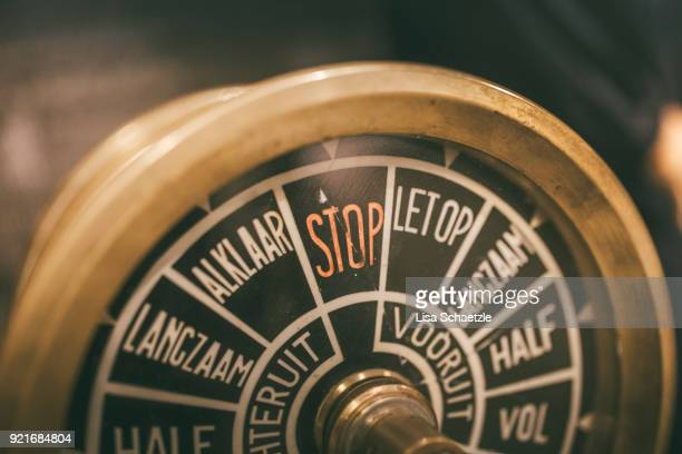 Old Steering wheel of ship
