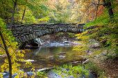 Old Stone Bridge Over Stream