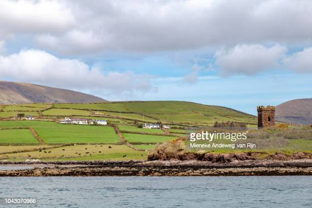 Old stone watch tower on Dingle Bay, Dingle, County Kerry, Ireland
