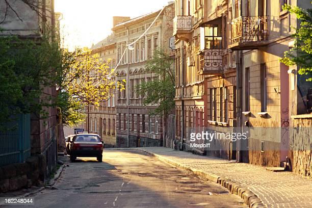 Alten Straße in der Mitte von Lemberg