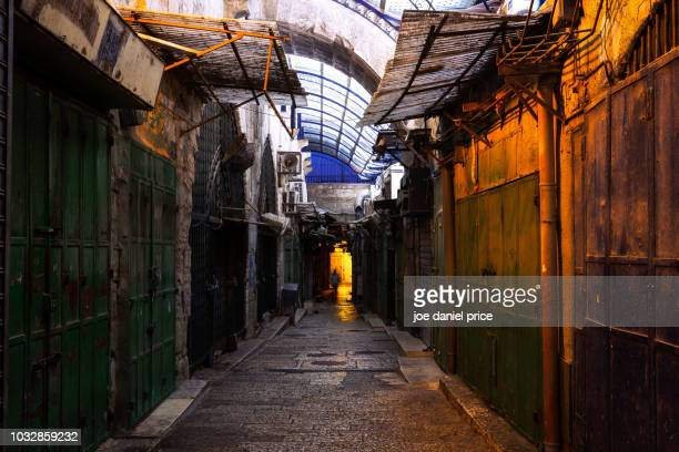 old streets, old city, jerusalem, israel - jerusalem stock pictures, royalty-free photos & images