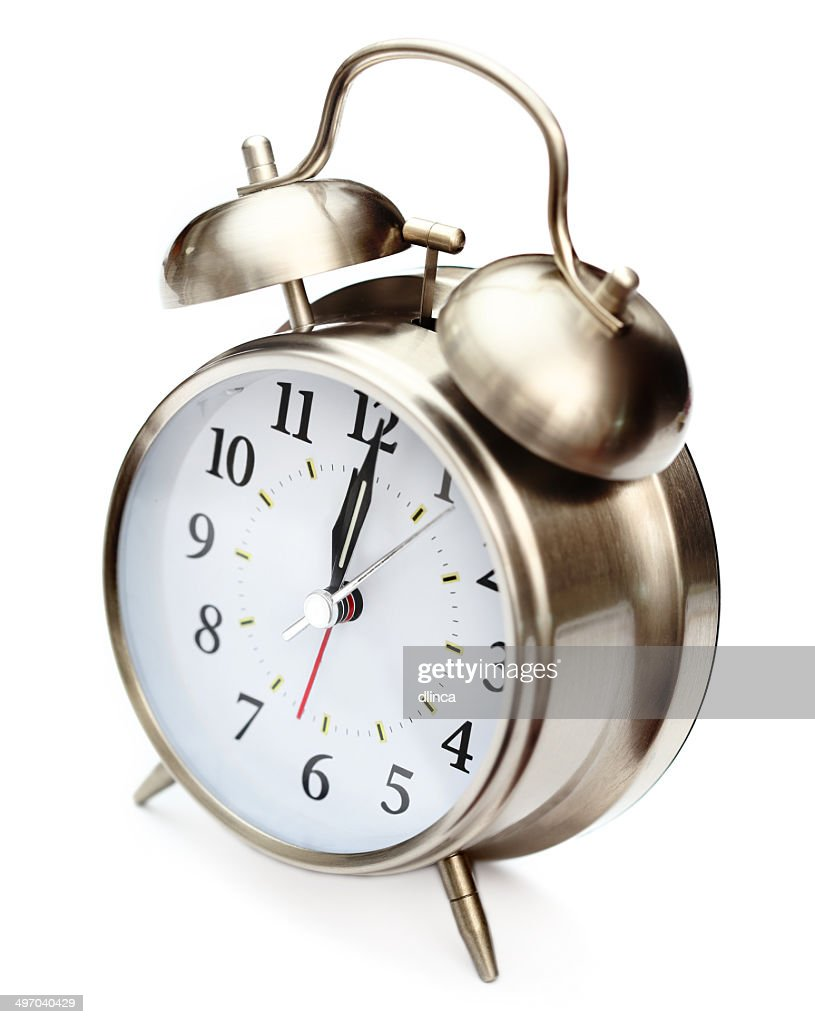 Old Style Alarm Clock High Res Stock