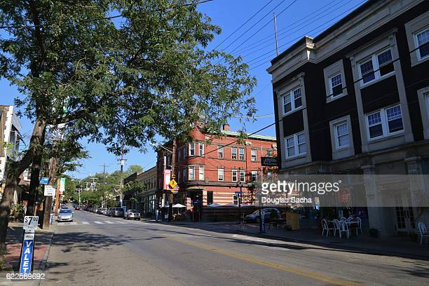 old style neighborhood, little italy, cleveland, ohio, usa - cleveland ohio stock photos and pictures