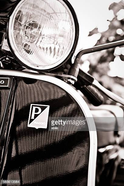 old style, vespa scooter - vespa brand name stock pictures, royalty-free photos & images