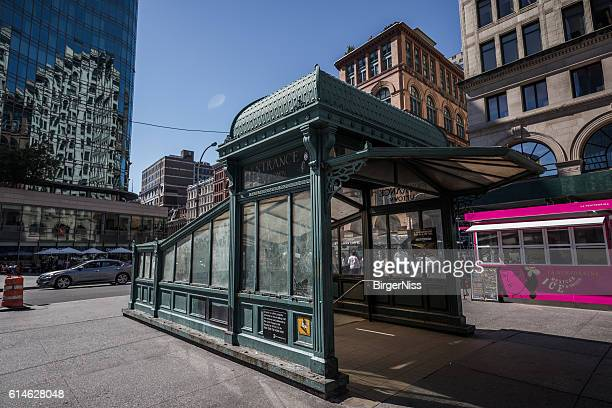 Old subway entrance, Manhatten, New York City, Unites States