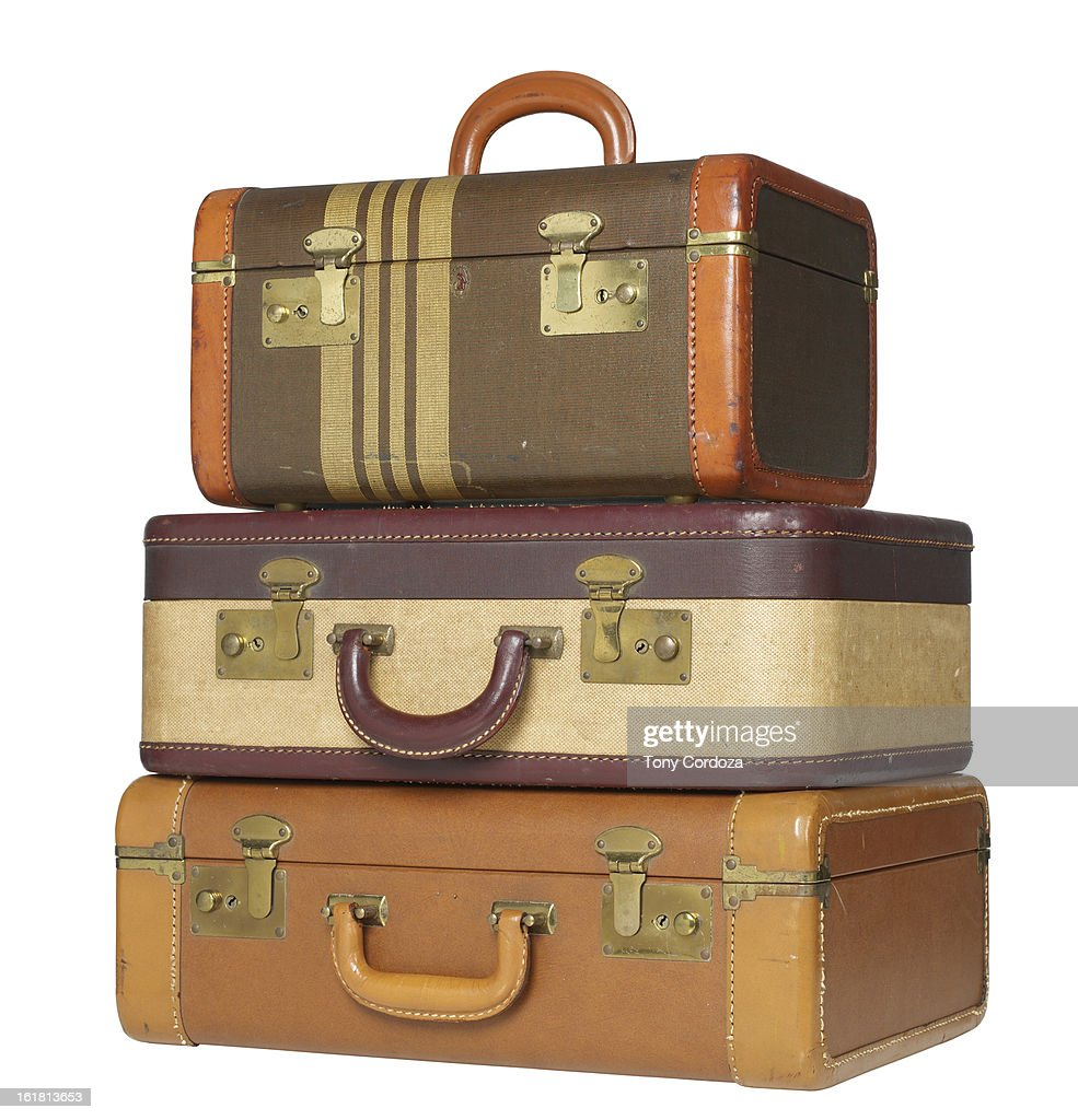 Old Suitcases Part - 37: Old Suitcases : Stock Photo