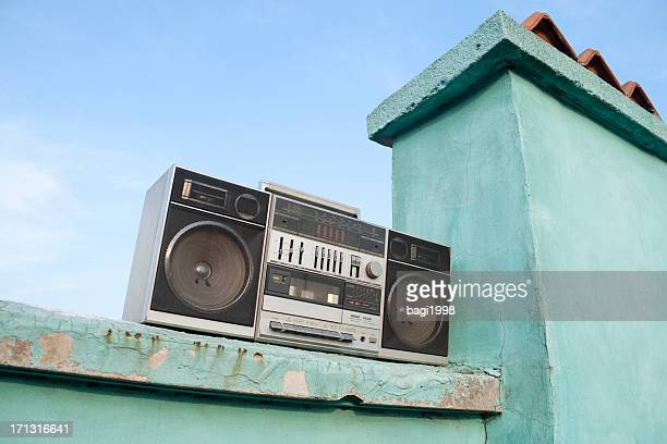 Old tape recorder on the roof