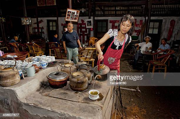 Old tea house in Sichuan province, China