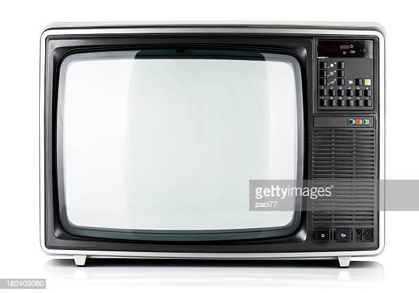 Vieux téléviseur isolé