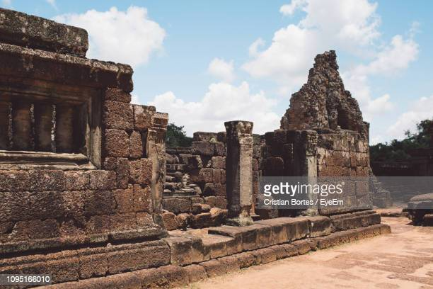 old temple against sky - bortes stock pictures, royalty-free photos & images