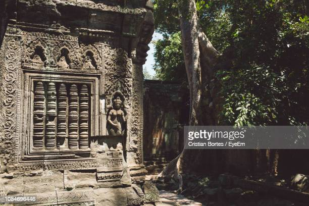 old temple by trees - bortes stock pictures, royalty-free photos & images