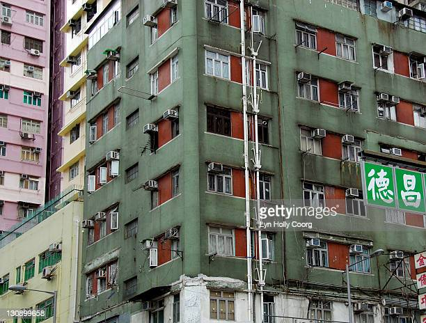 old tenement building blocks - lyn holly coorg stock pictures, royalty-free photos & images