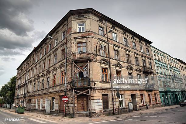 old tenement - abandoned stock pictures, royalty-free photos & images