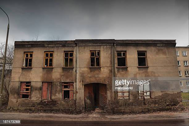old tenement - run down stock photos and pictures