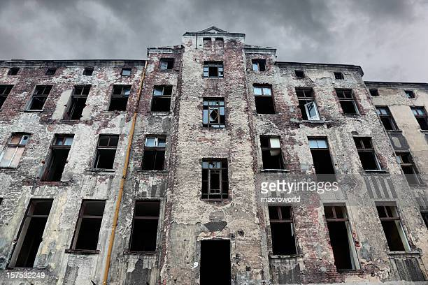 old tenement - industrial revolution stock pictures, royalty-free photos & images