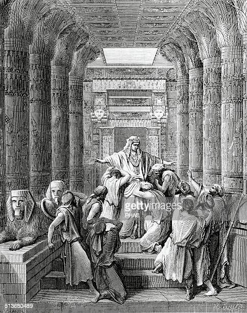 Old Testament Genesis Joseph Patriarch of Israel Joseph recognized by his brothers Engraving by Gustave Dore 19th century
