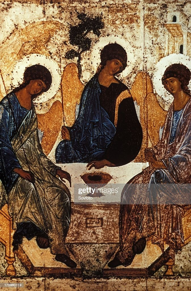 Old testament trinity by andrei rublev, c, 1410 - 1420