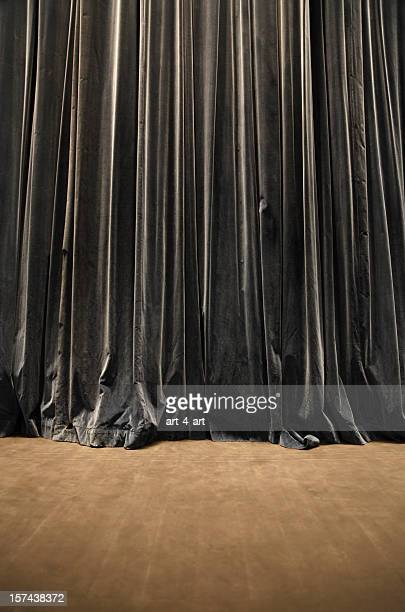 Old theater curtain background