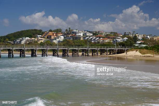 Old timber jetty and township, Coffs Harbour, New South Wales, Australia