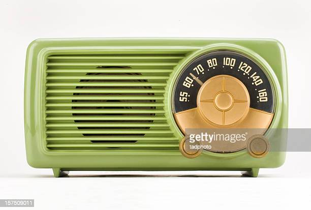 old time green radio - adobe rgb - radio stock pictures, royalty-free photos & images