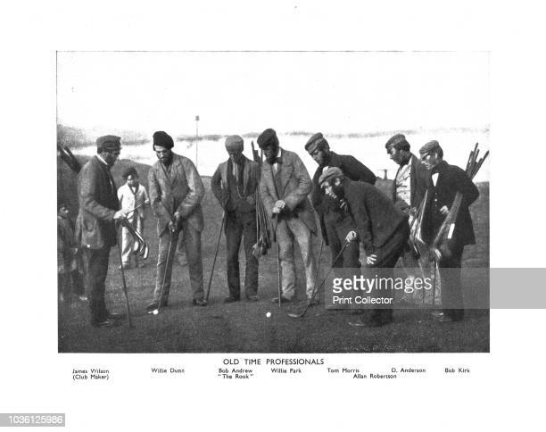 Old Time Professionals' circa 1850s Lithographic reproduction of a photograph taken circa 1850 showing Scottish golfers James Wilson Willie Dunn Bob...