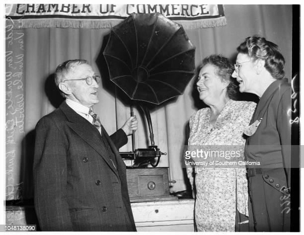 Old timers 21 October 1951 Louise BackmanEthel Littlefield StrattonFrancis Muir PomeroyCF NewbillAdo Van Winkle Edith Burke ChamberlainMae Van Winkle...
