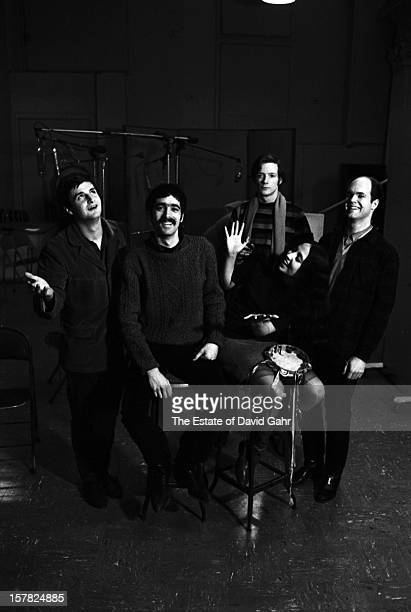 Old timey jug band the Jim Kwenskin Jug Band pose for a portrait on March 2 1966 in the recording studios of Vanguard Records in New York City New...