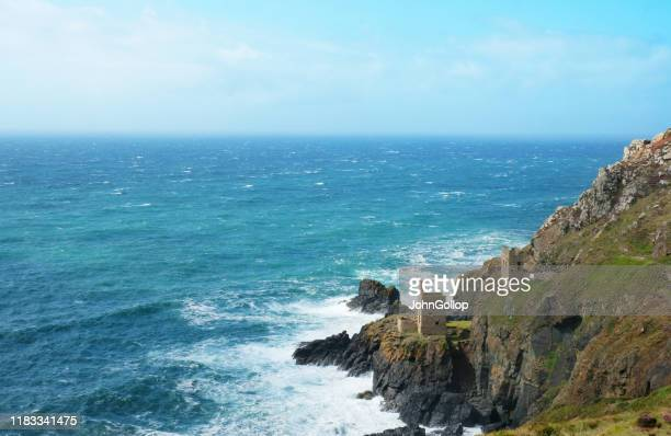old tin and copper mines, cornwall, uk - social history stock pictures, royalty-free photos & images