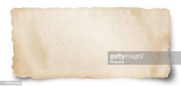 old torn paper - il passato foto e immagini stock