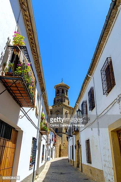 old tower of the antigua universidad - universidad stock pictures, royalty-free photos & images