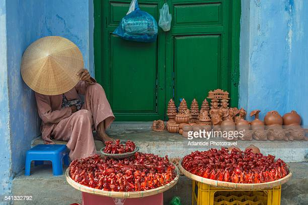 Old Town, a woman who selling earthenware objects
