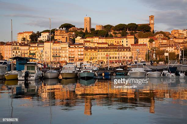 Old town and harbor, Cannes, France