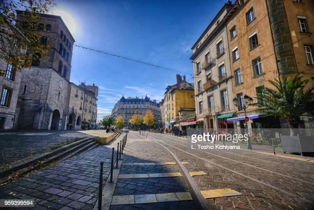 old town area of grenoble, france - grenoble stockfoto's en -beelden